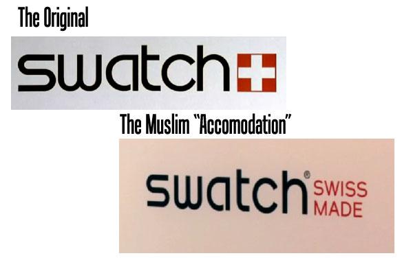 swatch-sharia  Les Musulmans Veulent que la Suisse Change son Drapeau swatch sharia