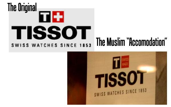 Tissot-halal version musulmane drapeau suisse immigrants musulmans voulez Suisse Changer drapeau national Tissot Version halal  Les Musulmans Veulent que la Suisse Change son Drapeau tissot halal version