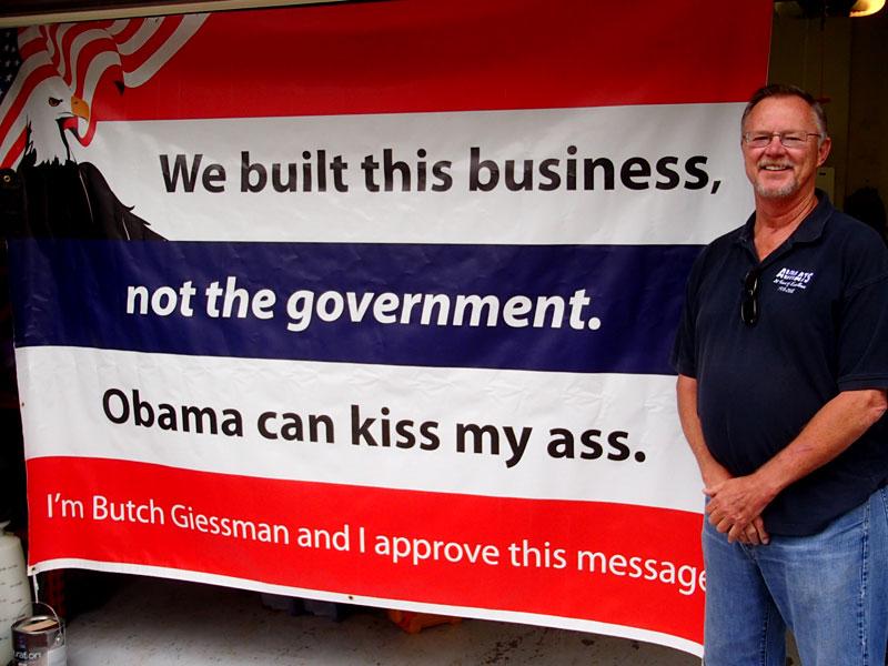 """obama-kiss-my-ass  Obama: """"Si Vous avez une 'Business' ce n'est pas Vous qui l'Avez Construite"""" obama kiss my ass"""