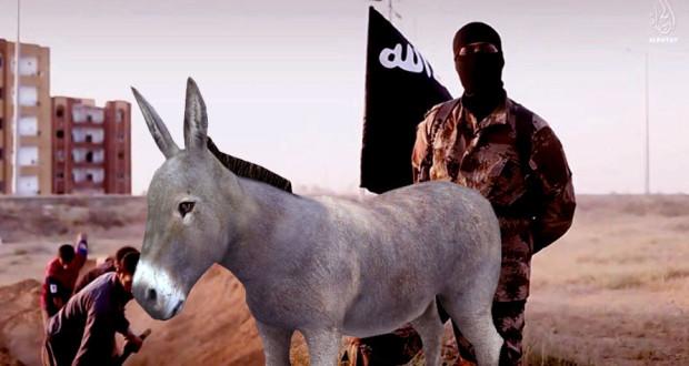 Un Soldat de ISIS Surpris en Train de Fourrer un Âne ISIS DONKEY 620x330