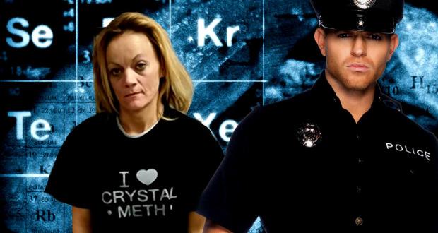 """Une Épaisse se fait Arrêter pour Vente de Cristal Meth avec un Gilet """"J'aime le Cristal Meth"""" sur le Dos crystal meth lunatic 620x330"""