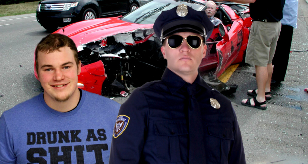 """Un Imbécile se fait Arrêter pour Alcool au Volant avec un T-Shirt """"Saoul comme la Marde"""" sur le Dos drunk as shit 620x330"""