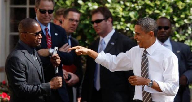 "Jamie Foxx Appelle Obama ""Notre Seigneur et Sauveur"" jamie foxx president obama 620x330 620x330"