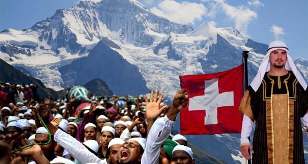 Les Musulmans Veulent que la Suisse Change son Drapeau muslim swiss flag 620x330