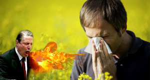 Experts: Le Réchauffement de la Planète va Empirer vos Allergies global warming pollen aller 300x160
